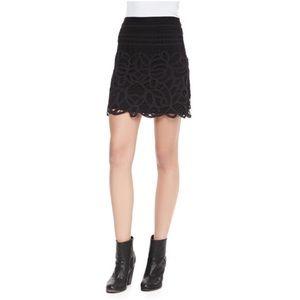 Rag & Bone Nancy Jersey Scallop Lace Mini Skirt 4